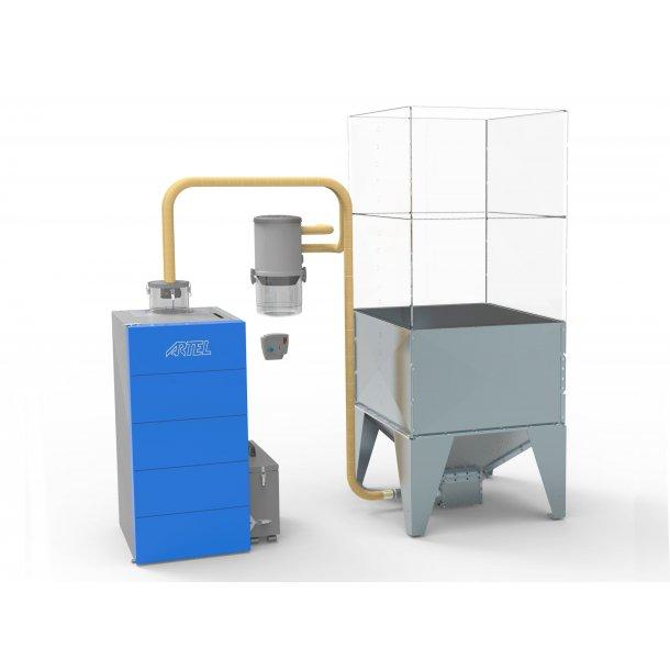 Påfyldningssystem til Automatic eller Compact pillefyr.